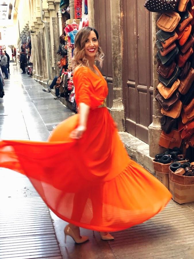 Fitness And Chicness-Look Invitada Estilo Griego Vestido y Tacon-5