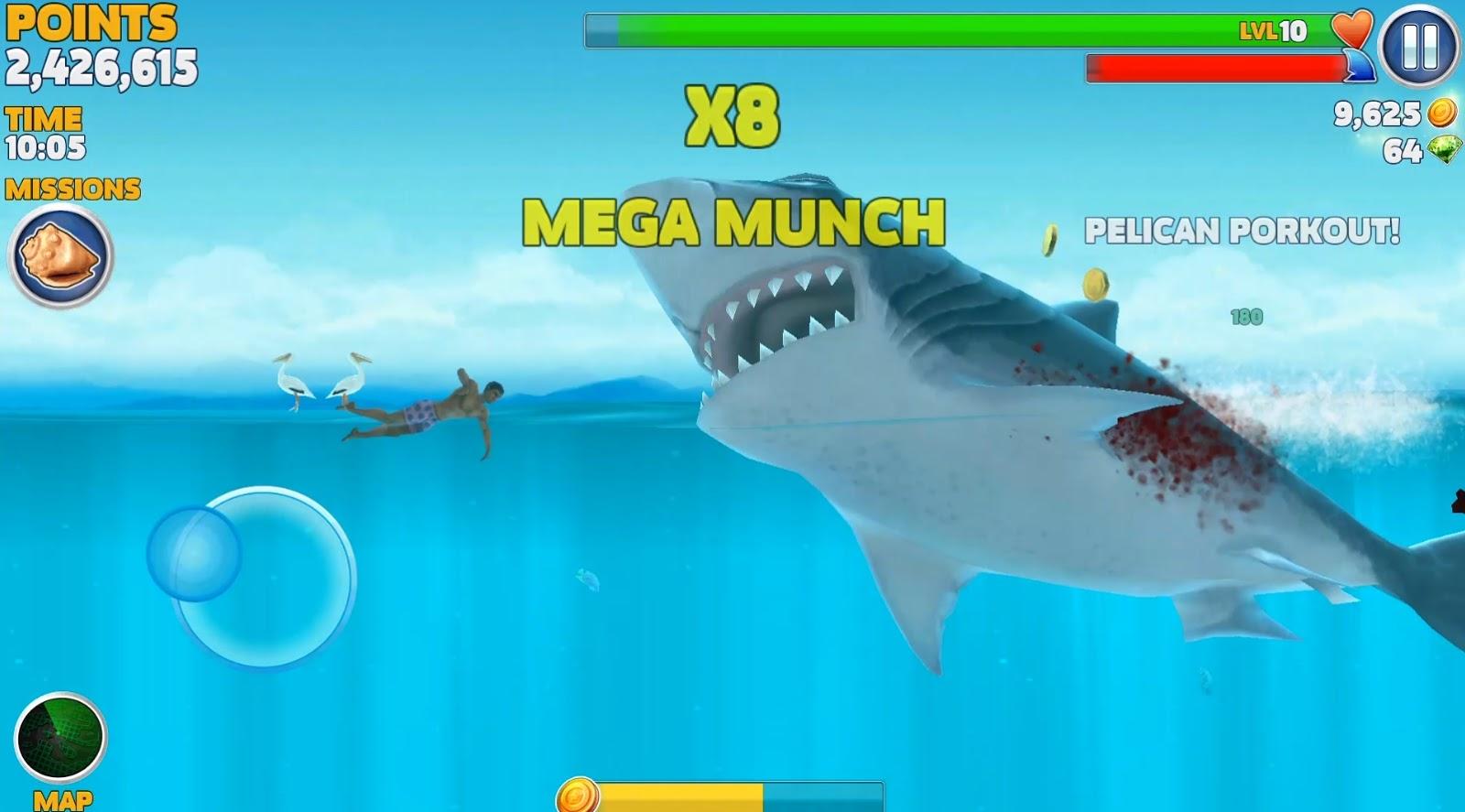 تحميل لعبة hungry shark evolution