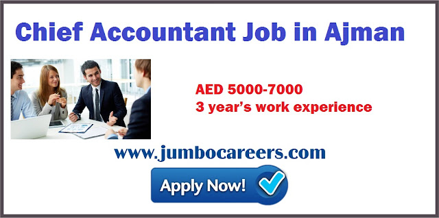 Chief Accountant Job in Ajman