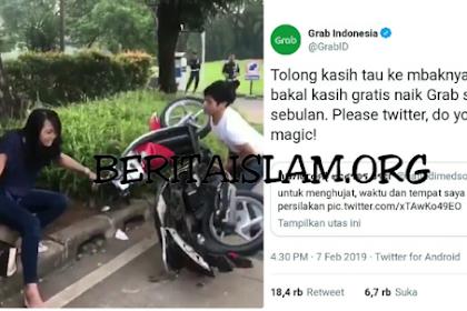 Viral Pemuda Banting Motor Saat Ditilang Polisi, Pacarnya Dapat Tawaran Gratis Naik Grab Sebulan