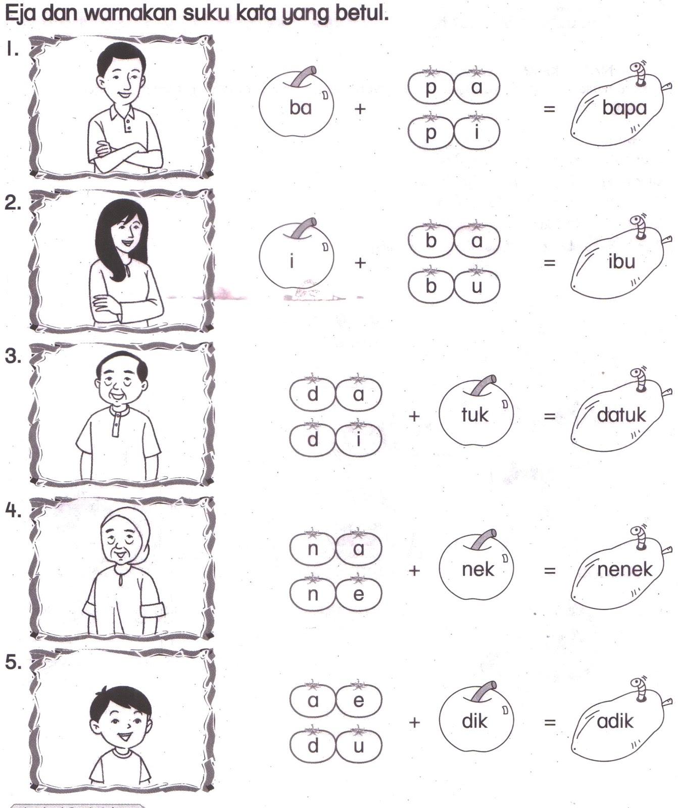 Bahasa Malaysia Tahun 1 Ulangkaji