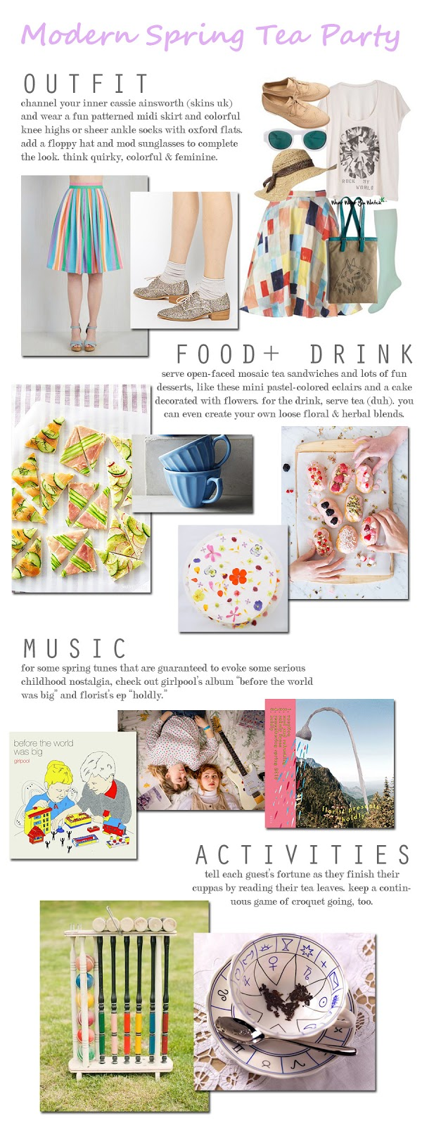 MODERN SPRING TEA PARTY from Honey and Smoke Studio