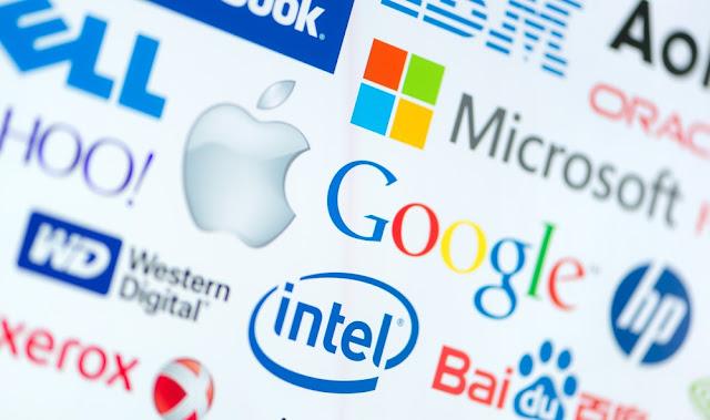 غوغل، فيسبوك، آبل، ميكروسوفت، أوبر وتويتر