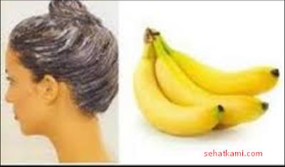 cara mengatasi rambut kering dengan pisang