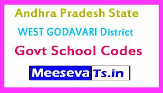 WEST GODAVARI District Govt School Codes in Andhra Pradesh State