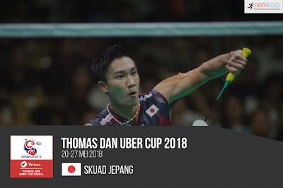 Pemain Jepang di Thomas dan Uber Cup 2018