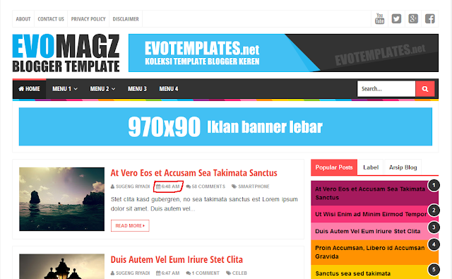 design template blog