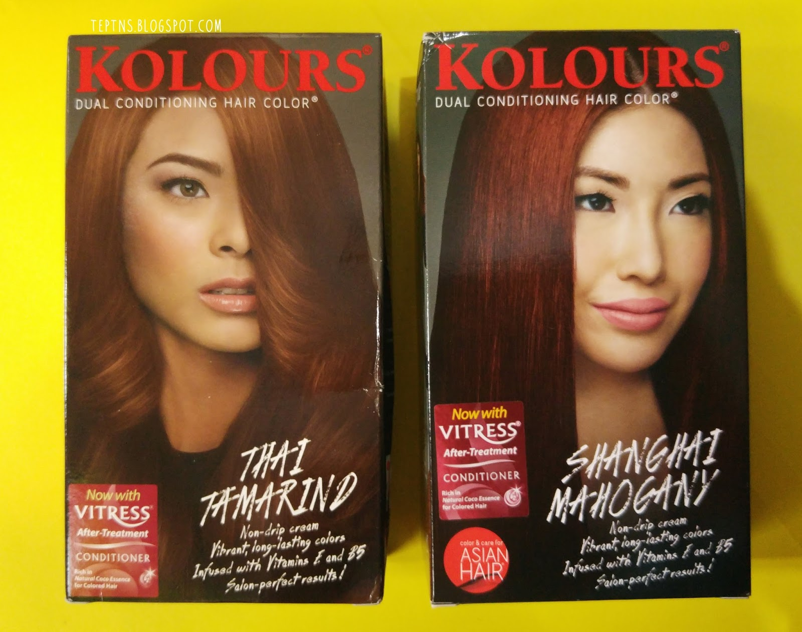 Review Kolours Dual Conditioning Hair Color In Shanghai Mahogany