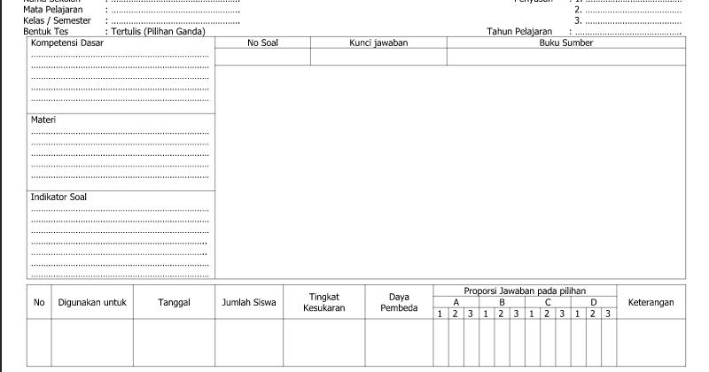 Referensi Contoh Kartu Soal Referensi Contoh Pilihan Ganda Lembar 2 Dalam