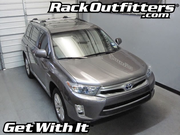 Toyota Highlander Thule SILVER AeroBlade EDGE Base Roof ...