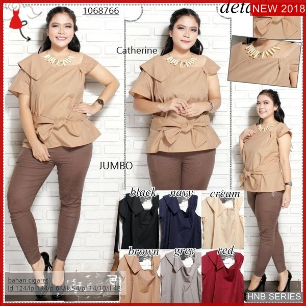 HNB049 Model Setelan Pc Jumpsuit Ukuran Besar Jumbo BMG Shop