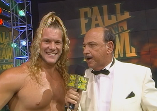 WCW Fall Brawl 1998 - Mean Gene Okerlund interviews Chris Jericho