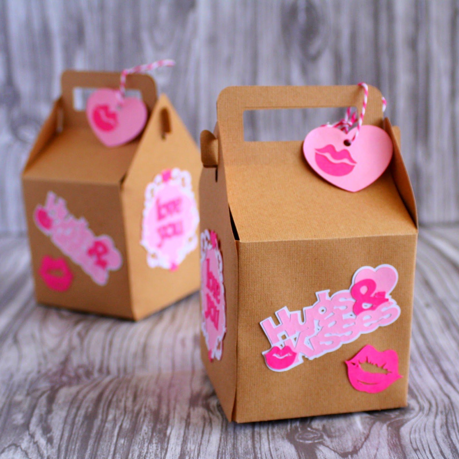 Valentine's Day treat boxes - perfect for presenting a little something to your Valentine | jordanseasyentertaining.com #cricutexplore