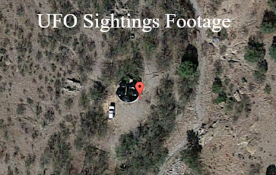 Here's the crashed UFO in Nevada no fly zone with security around it.