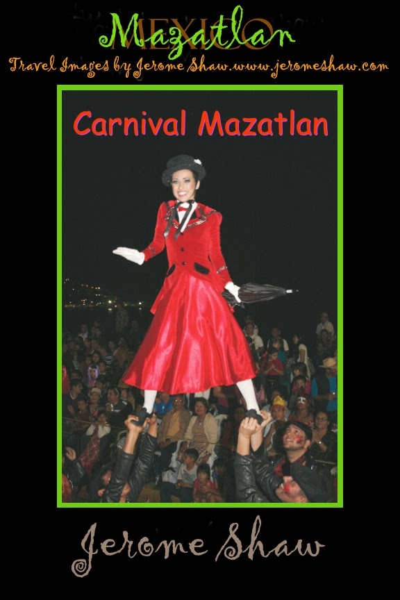 """Mary Poppins floats on a sea of chimney sweeps, Carnival Mazatlan, Mexico"" copyright JeromeShaw 2013 / www.JeromeShaw.com"