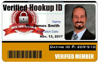 What is HookUp Dating ID Badge