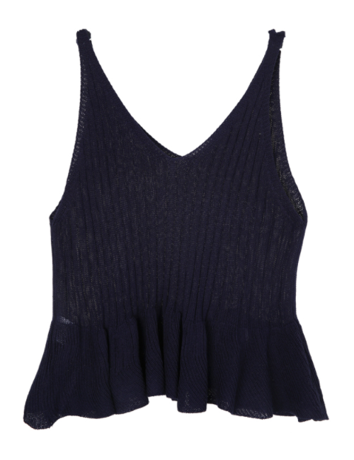 See-Through Knit Sleeveless Top