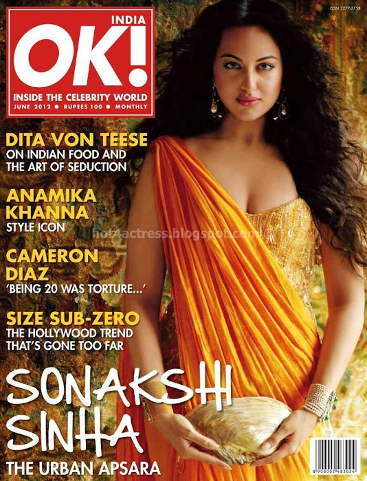 Sonakshi sinha on cover ok magazine photo gallery