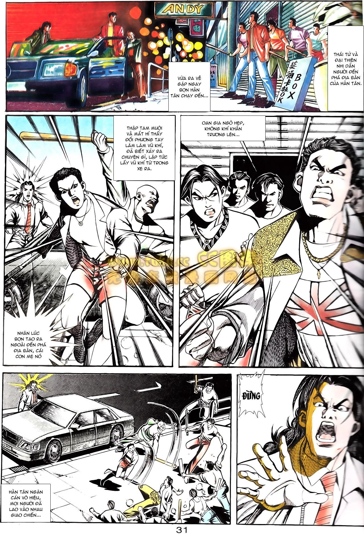 Người Trong Giang Hồ chapter 164: hạo nam chiến quạ đen trang 3