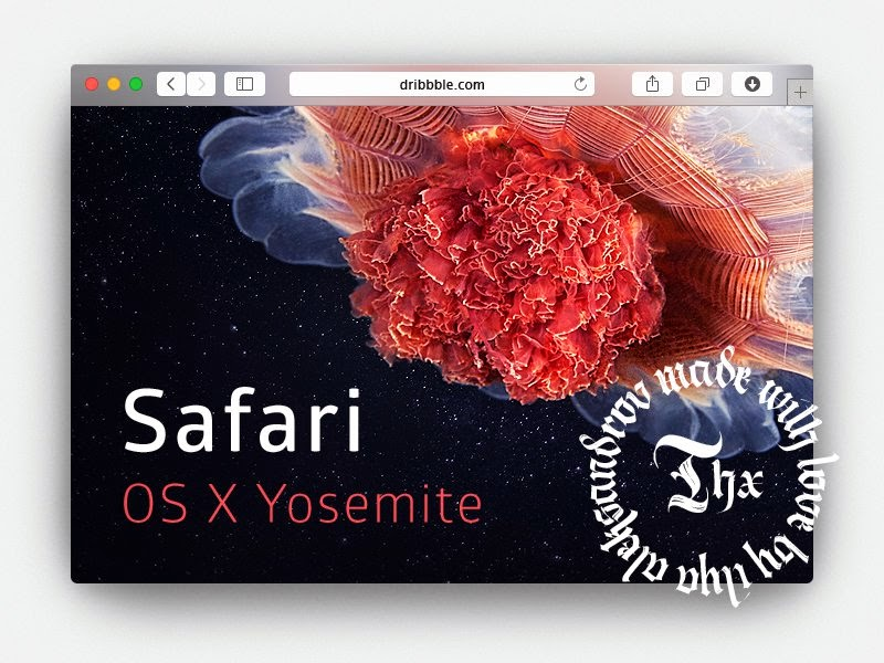 Safari Yosemite Browser PSD Mockup