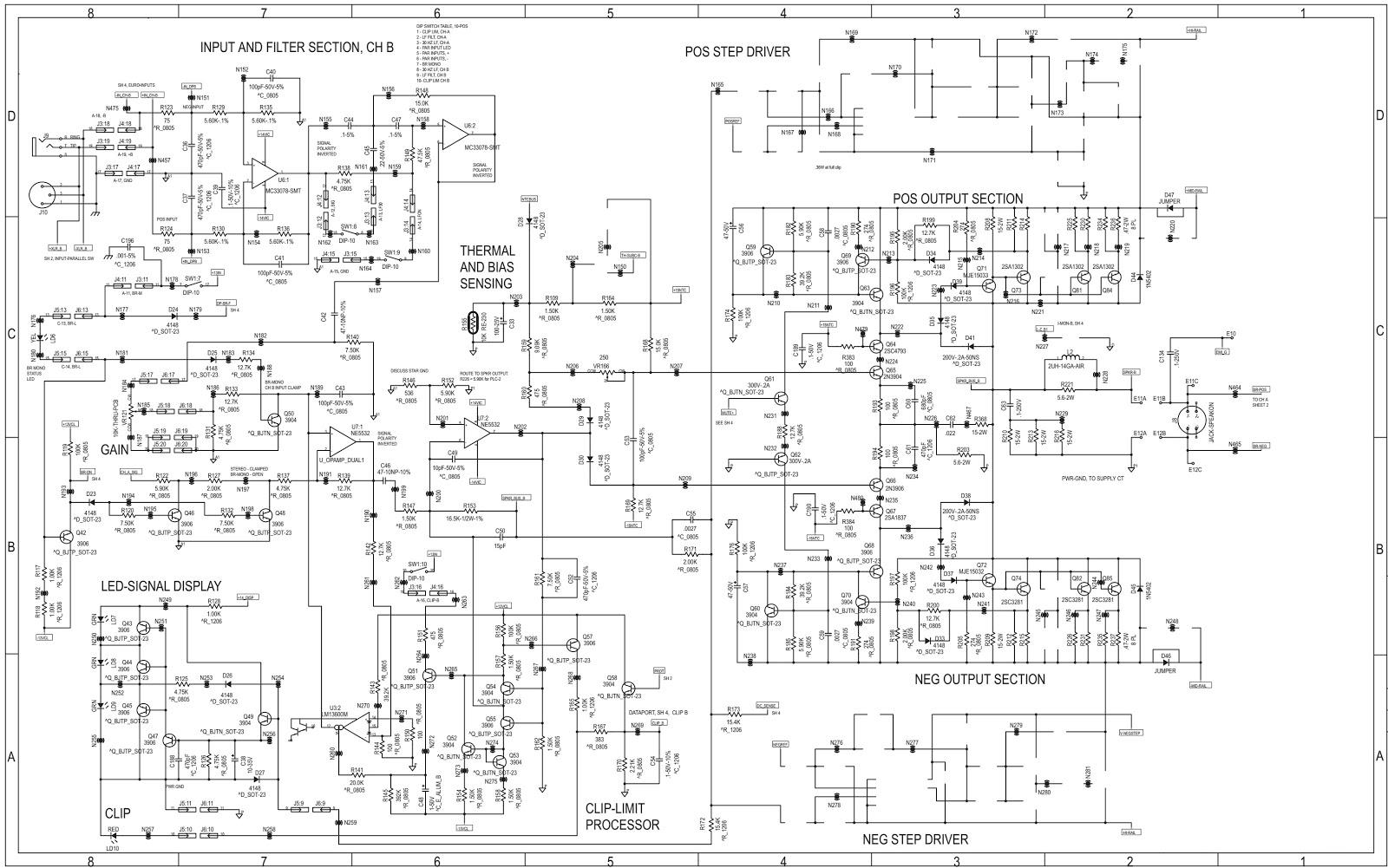 Qsc Plx 1202 Test Procedure And Circuit Diagram Electro Help Myvariacwiringdiagram3jpg Schematic