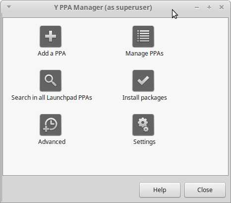 Install Y PPA Manager di Linux Mint