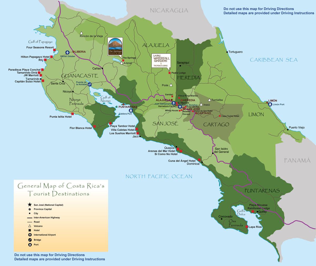 Costa Rica | Mapas Geográficos da Costa Rica