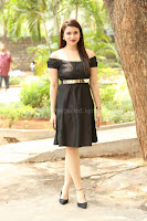 Mannara Chopra in Short Off Shoulder Black Dress ~  Exclusive 073.JPG