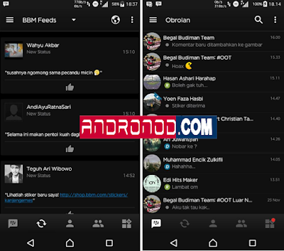 BBM Mod Black v2.4 Base v3.2.0.6 Apk New Featured