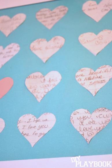 Love letters framed