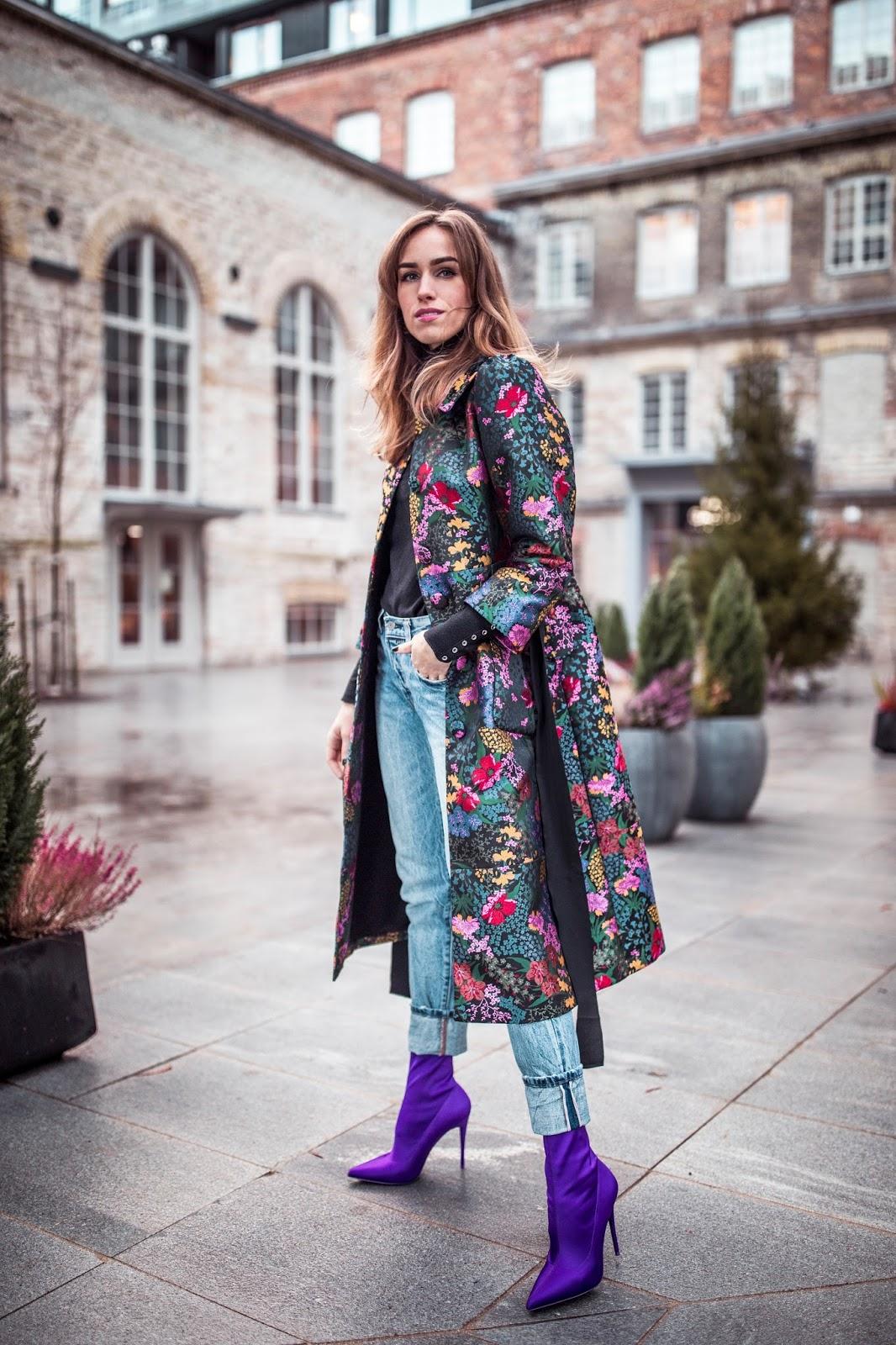 erdem floral coat outfit