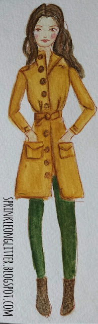 Sprinkle On Glitter Blog// Illustrated Capsule Wardrobe- Coat//Ann Taylor Loft wool coat// extra petite