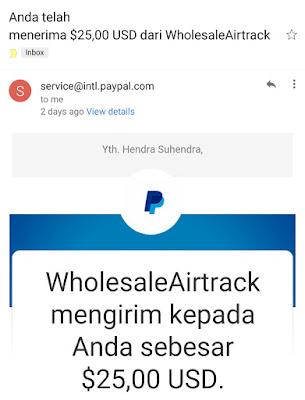 Pembayaran Melalui PayPal Sudah Masuk - Blog Mas Hendra