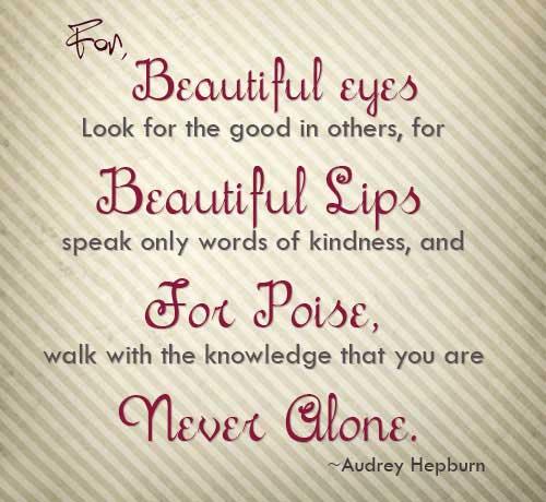 Kata Mutiara Bahasa Inggris Audrey Hepburn