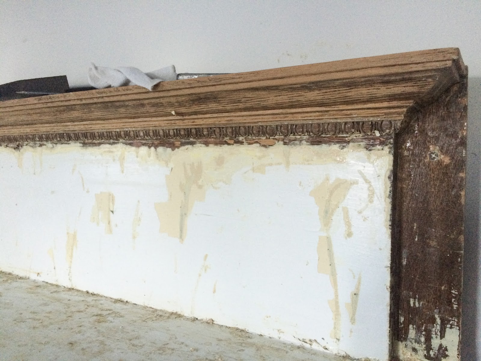 Stripping Paint from a Faux Mantel