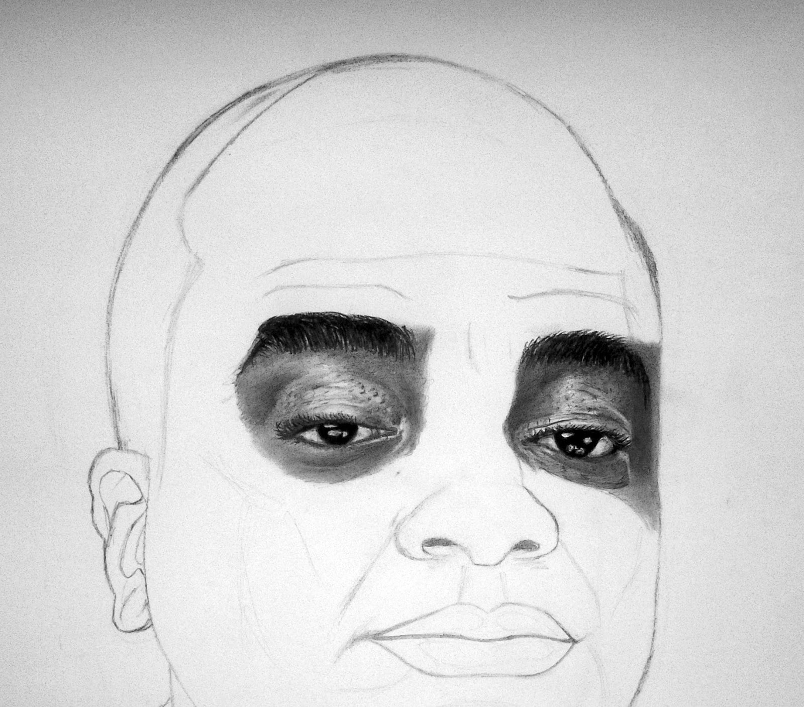 Pencil drawing of david oyedepo graphite and charcoal on alabaster paper 20 x 22