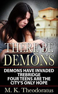 There Be Demons - a different take on gargoyles and magic by M. K. Theodoratus