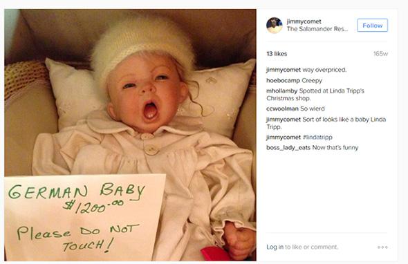 muñeco de bebe alemán con un precio de venta de $1200