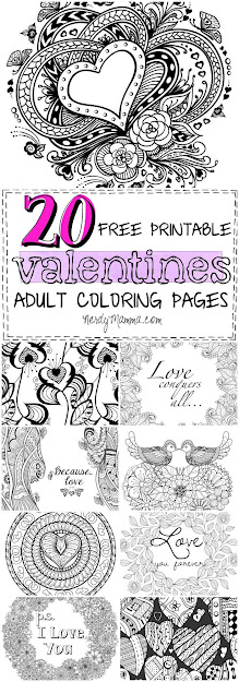 Free Printable Valentines Adult Coloring Pages