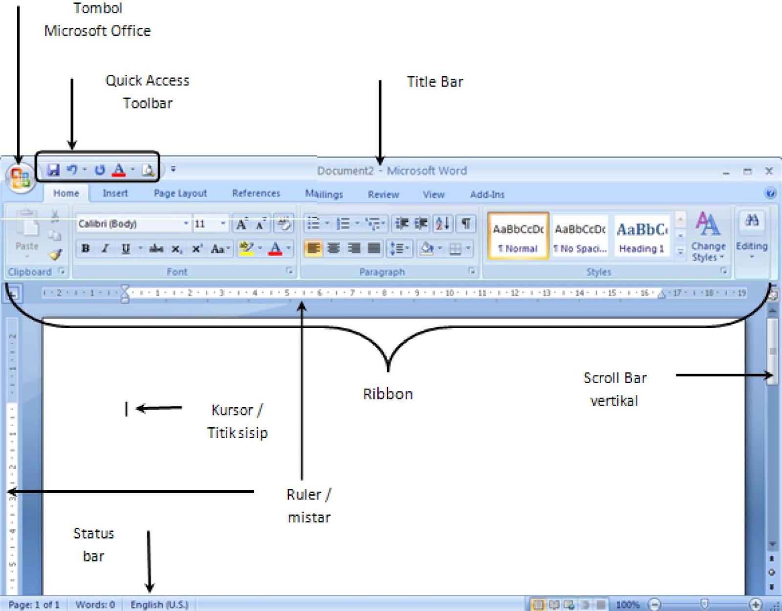 Fungsi Tab Menu Page Layout Microsoft Excel