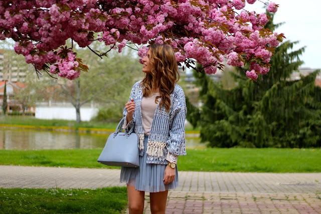 faldas de tul azul