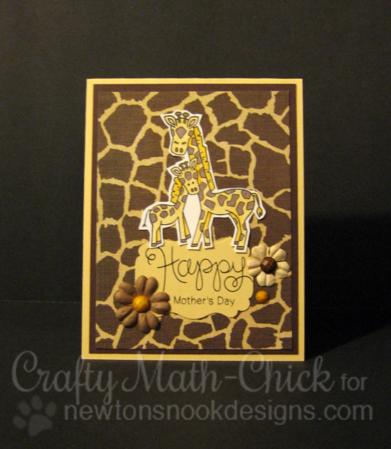 Happy Mother's Day Giraffes by Crafty Math-Chick | Wild Child stamp set by Newton's Nook Designs #newtonsnook