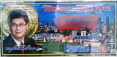 business license plate in Mandaluyong City