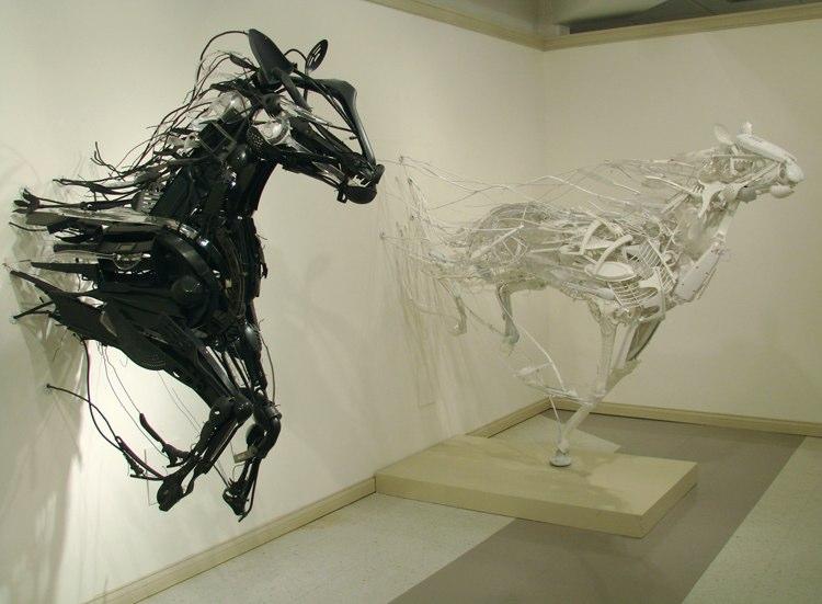 esculturas de caballos arte contemporaneo