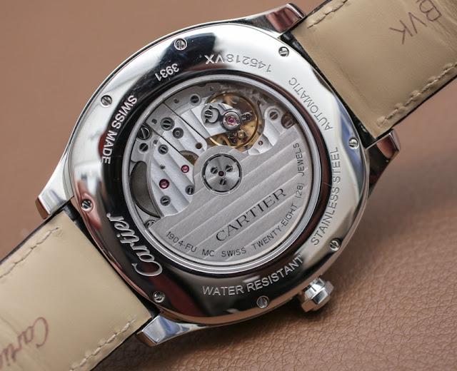 Réplique Montre Cartier Drive de Cartier Acier inoxydable extra-plat Or jaune