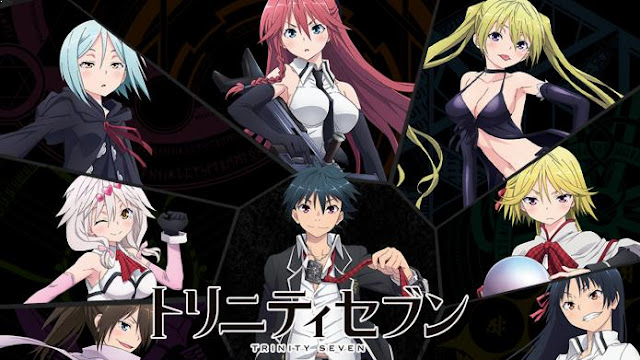 Top Best Romance Magic School Anime List - Trinity Seven