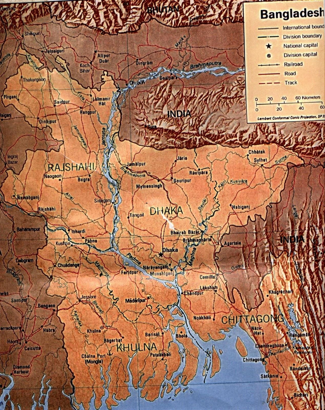 Bangladesh | Mapas Geográficos de Bangladesh