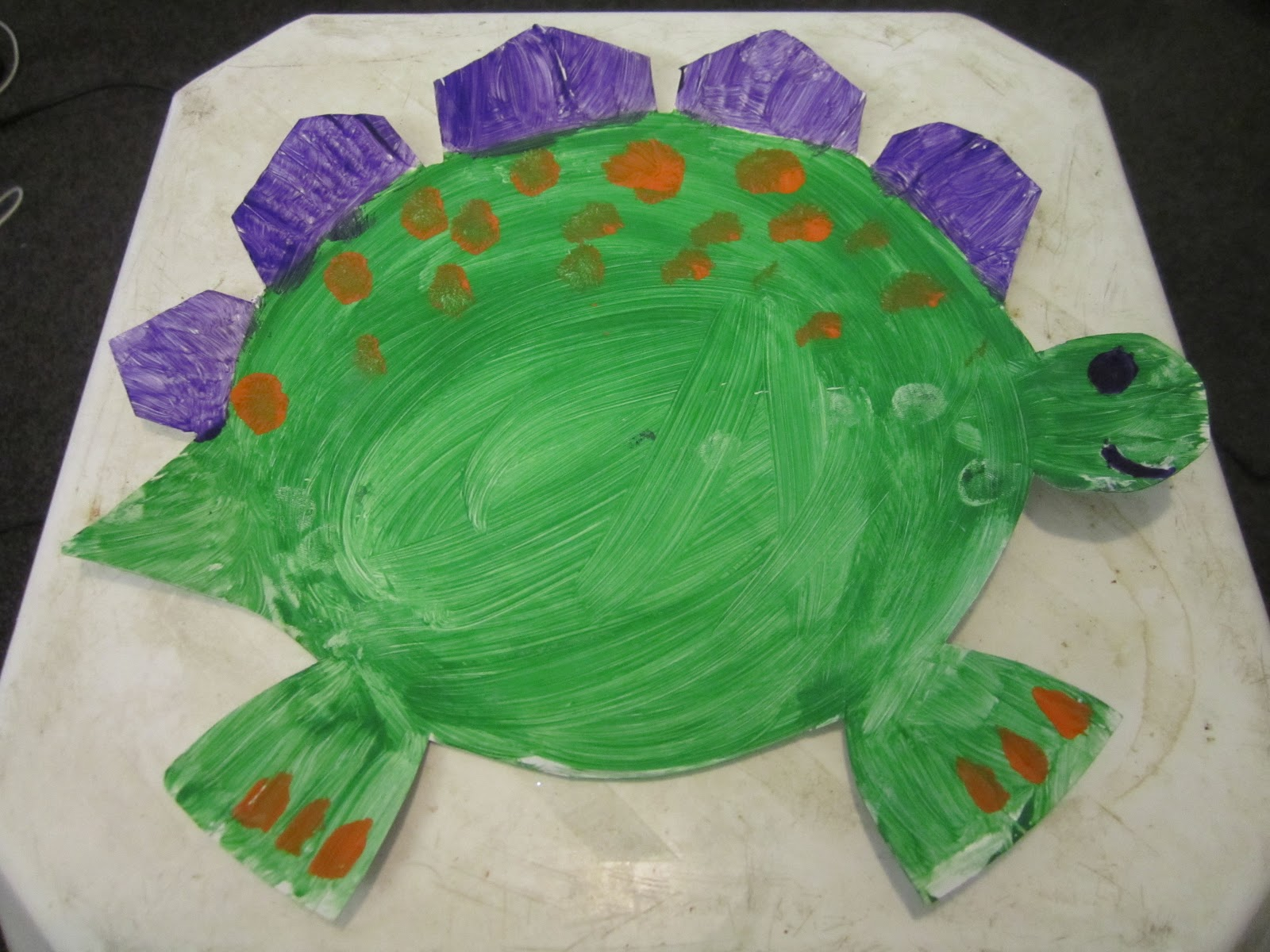 Strictly Craftidential: Paper Plate Dinosaurs