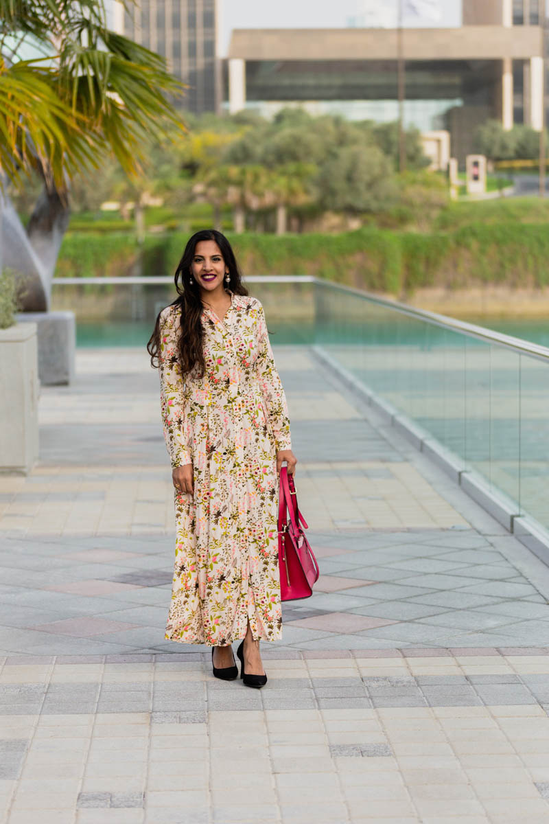 Floral Maxi Shirt Dress + About The Silver Kick Company