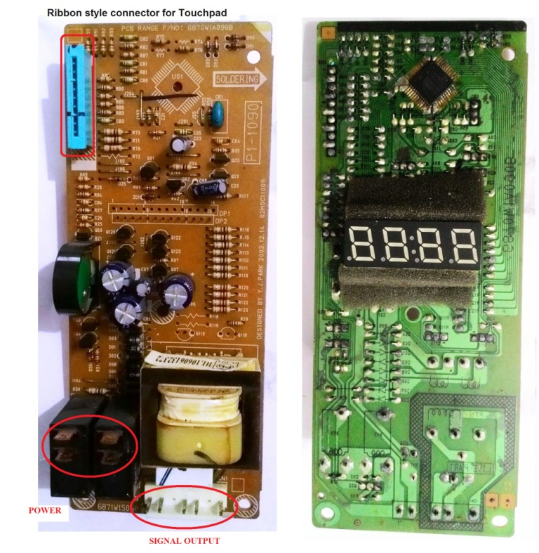 replace the touch pad control panel